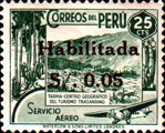 """[Airmail - Issues of 1938 Overprinted """"Habilitada S/o."""" and Surcharged, type II2]"""