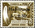 """[Airmail - Issues of 1938 Overprinted """"Habilitada S/o."""" and Surcharged, type IM1]"""