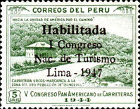 [The 1st National Tourist Congress, Lima - Unissued Designs Inscribed