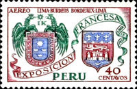 [Airmail - Exhibition of French Products, Lima, Typ LJ]