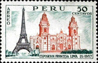 [Airmail - Exhibition of French Products, Lima, Typ LK]