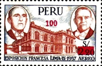 """[Various Stamps Overprinted """"Habilitado Franq. Postal"""" and Surcharged, Typ LM4]"""