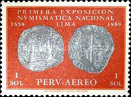 [Airmail - The 1st National Numismatic Exhibition, Lima, type MO]