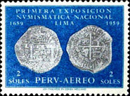 [Airmail - The 1st National Numismatic Exhibition, Lima, type MP]