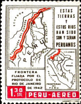 [Airmail - The 20th Anniversary of Ecuador-Peru Border Agreement, type MW]