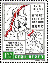 [Airmail - The 20th Anniversary of Ecuador-Peru Border Agreement, type MW1]