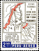 [Airmail - The 20th Anniversary of Ecuador-Peru Border Agreement, type MW2]