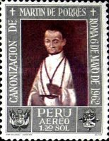 [Airmail - Canonization of St. Martin de Porras 1962 - Paintings, type NR]