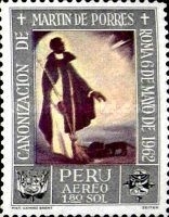 [Airmail - Canonization of St. Martin de Porras 1962 - Paintings, type NS]