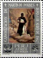 [Airmail - Canonization of St. Martin de Porras 1962 - Paintings, type NT]