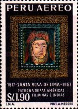[Airmail - The 350th Anniversary of the Death of St. Rosa of Lima, 1586-1617, type OL]