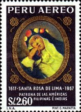 [Airmail - The 350th Anniversary of the Death of St. Rosa of Lima, 1586-1617, type OM]