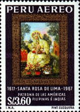 [Airmail - The 350th Anniversary of the Death of St. Rosa of Lima, 1586-1617, type ON]