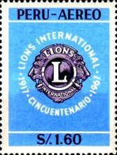 [Airmail - The 50th Anniversary of Lions International, type OP]