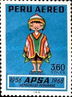 [Airmail - The 12th Anniversary of APSA, Peruvian Airlines, Typ PA]