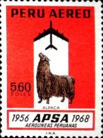 [Airmail - The 12th Anniversary of APSA, Peruvian Airlines, type PB]