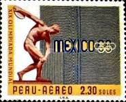[Airmail - Olympic Games - Mexico City, Mexico, type PD]