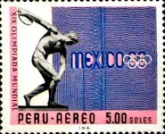 [Airmail - Olympic Games - Mexico City, Mexico, type PD2]