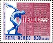 [Airmail - Olympic Games - Mexico City, Mexico, type PD4]