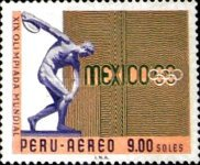 [Airmail - Olympic Games - Mexico City, Mexico, type PD5]