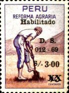 [Unissued Agrarian Reform Stamps, Surcharged, Typ PF]