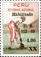 [Unissued Agrarian Reform Stamps, Surcharged, Typ PF1]