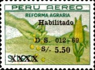 [Unissued Agrarian Reform Stamps, Surcharged, Typ PG]
