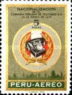 [Airmail - Nationalization of Lima Telephone Service, type QL]