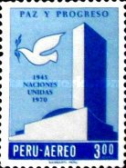 [Airmail - The 25th Anniversary of the United Nations, type QN]