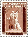 """[Various Stamps Overprinted """"Habilitado Franq. Postal"""" and Surcharged, Typ XXW]"""