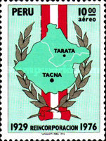[Airmail - Reincorporation of Tacna, type YZ]