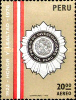 [Airmail - The 54th Anniversary of Peruvian Special Police, type ZB]
