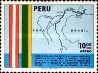 [Airmail - Meeting of Presidents of Peru and Brazil, type ZF]