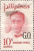 [Famous Filipinos - Postage Stamp of 1970 Overprinted