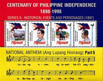 [The 100th Anniversary of Declaration of Philippine Independence - Revolutionaries, Typ ]