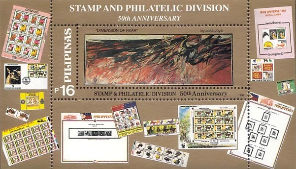 [The 50th Anniversary of Stamp and Philatelic Division - Modern Art, Typ ]