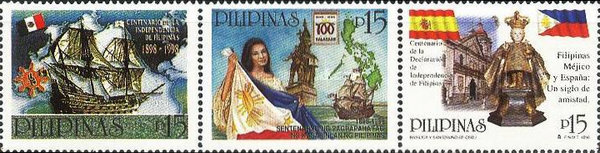 [The 100th Anniversary of Declaration of Philippine Independence - Philippines-Mexico-Spain Friend-ship, Typ ]
