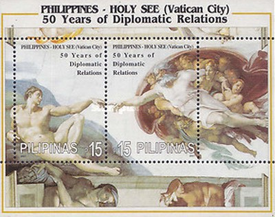 [The 50th Anniversary of Diplomatic Relations with Vatican City, Typ ]