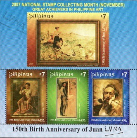 [National Stamp Collecting Month - The 150th Anniversary of the Birth of Juan Luna, 1857-1899, Typ ]