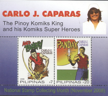 [National Stamp Collecting Month - Cartoon Superheroes, Typ ]