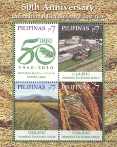 [The 50th Anniversary of the International Rice Recearch Institute - Manila & Los Banos, Laguana, Typ ]