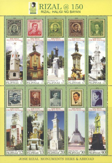 [The 150th Anniversary of the Birth of José Rizal, 1861-1896, Typ ]