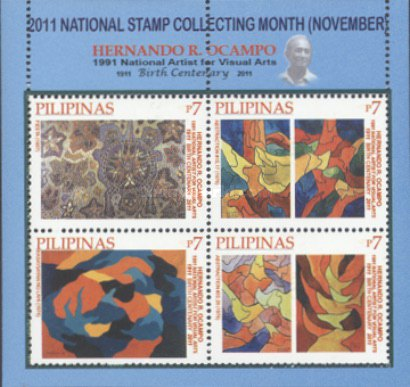 [National Stamp Collecting Month - Paintings by Hernando R. Ocampo, 1911-1978, Typ ]