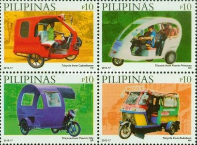 [Philippine Tricycles - With 1-4/4 Imprint, Typ ]