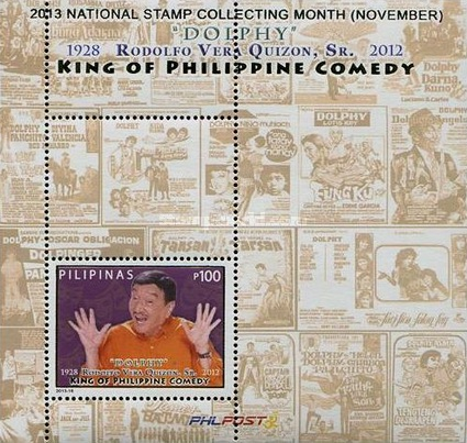 [National Stamp Collecting Month - Rodolfo Vera Quizon, Sr, 1928-2012, Typ ]