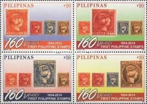 [National Stamp Collecting Month - The 160th Anniversary of the First Philippine Postage Stamp, Typ ]