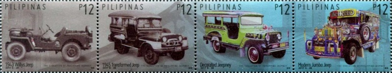 [National Stamp Collecting Month - Evolution of Philippine Jeepney, Typ ]