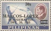 [Inauguration of President Marcos and Vice-President Lopez - Issues of 1962 Overprinted