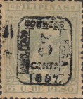"""[Previously Issued Stamps Overprinted """"HABILITADO PARA CORREOS"""" & Surcharged, type AG2]"""