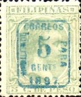 """[Previously Issued Stamps Overprinted """"HABILITADO PARA CORREOS"""" & Surcharged, type AG4]"""